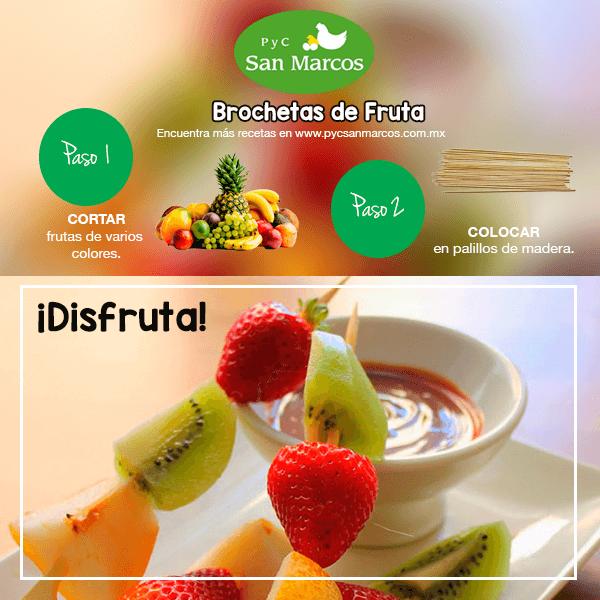 recetas brochetas de frutas